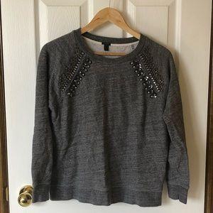 J Crew Jewelled Crewneck Sweater